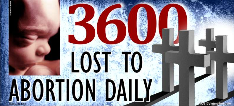 3600 Lost to abortion daily